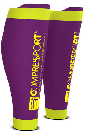 Compressport R2 v2 compressie tubes paars