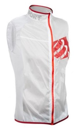 Compressport Trail hurricane vest hardloopjack wit