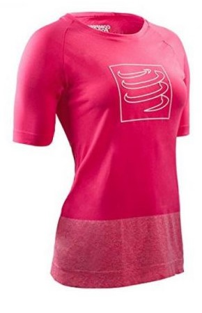 Compressport Training t-shirt roze dames