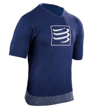 Compressport Training t-shirt blauw heren