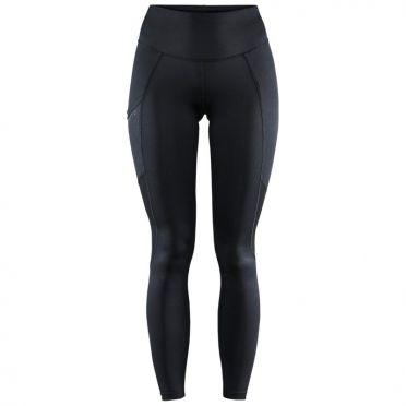 Craft Advanced Essence zip hardloopbroek zwart dames