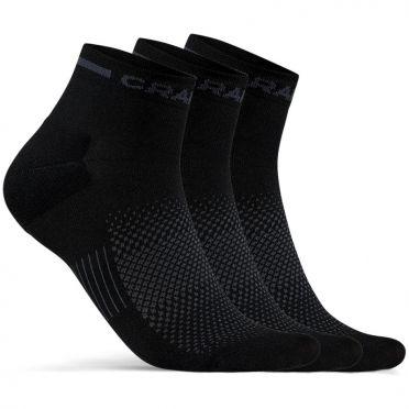 Craft Advanced Dry mid Sokken zwart 3-pack