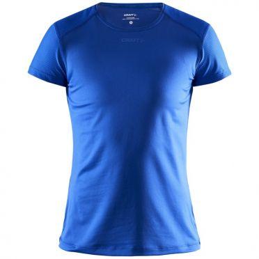 Craft Essence slim hardloopshirt SS blauw dames