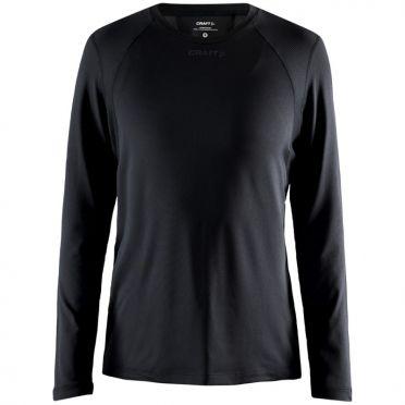 Craft Essence slim hardloopshirt LS zwart dames