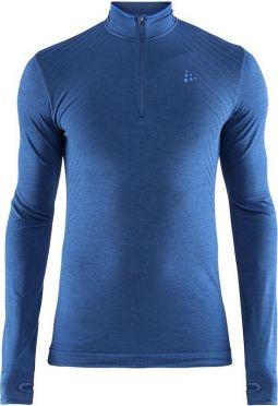 Craft Fuseknit comfort zip LS ondershirt donkerblauw heren