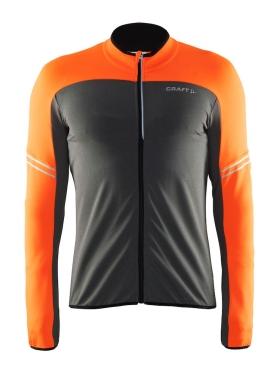 Craft Velo thermal fietsshirt lange mouw zwart/oranje heren