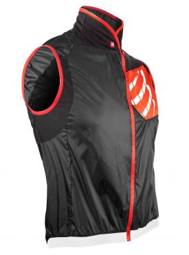 Compressport Cycling hurricane wind protect vest zwart