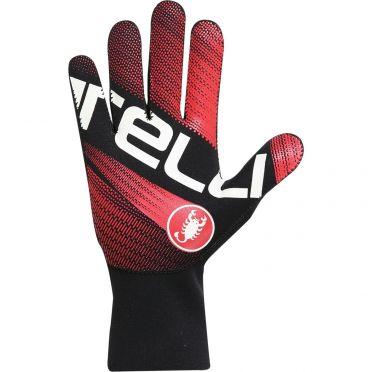 Castelli Diluvio light glove fietshandschoenen zwart/rood heren