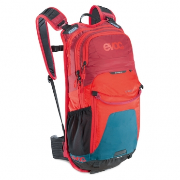 Evoc Stage 12L Backpack Petrol-red-ruby 99565