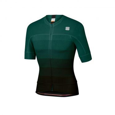 Sportful Bodyfit pro evo fietsshirt korte mouwen groen/zwart heren