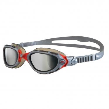Zoggs Predator Flex zwembril grijs/rood - spiegellens