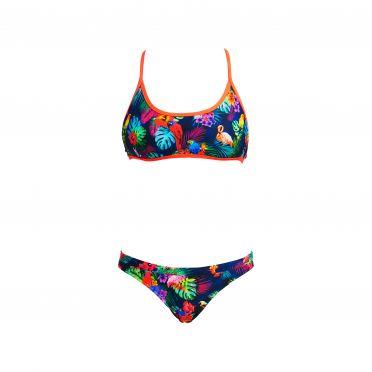 Funkita Tropic tag Tie down bikini set dames