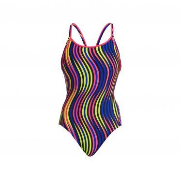 Funkita Squiggle piggle diamond back badpak dames