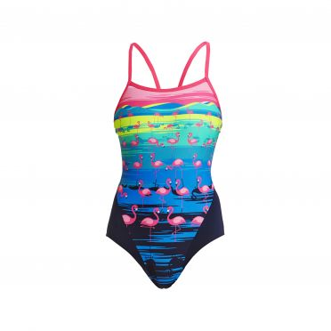 Funkita Flamingo flood single strap badpak dames