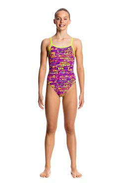 Funkita Dotty dash single strap badpak meisjes