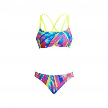 Funkita Frickin laser Criss cross sports bikini set dames