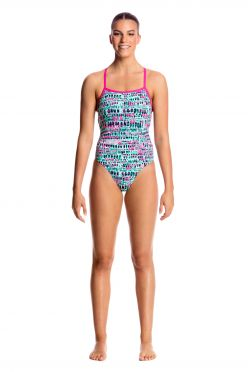 Funkita Minty madness strapped in badpak dames