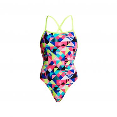 Funkita Purple patch strapped in badpak dames