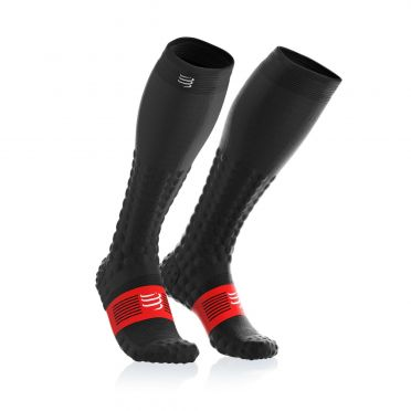 Compressport Full socks detox recovery compressiesokken zwart