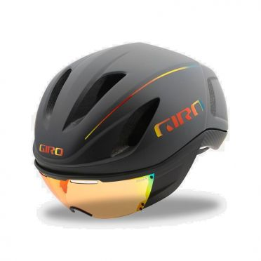 Giro Vanquish mips fietshelm mat grijs/fire