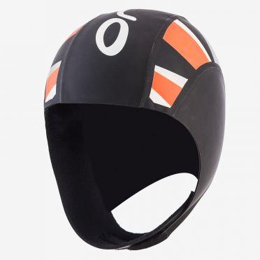 Orca Neopreen thermal swimcap zwart/oranje