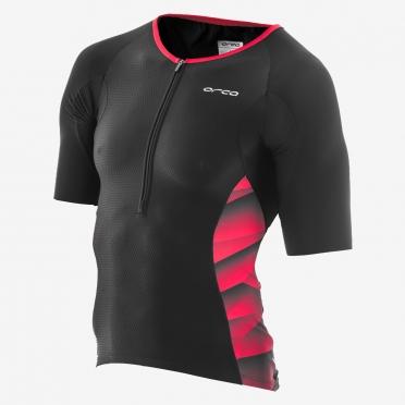 Orca 226 Kompress tri jersey korte mouw zwart/rood heren