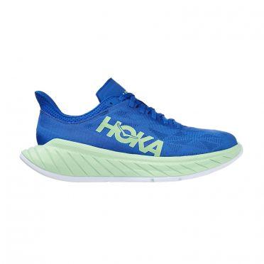 Hoka One One Carbon X 2 hardloopschoenen blauw/groen heren