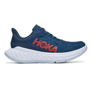 Hoka One One Carbon X 2 hardloopschoenen donkerblauw dames