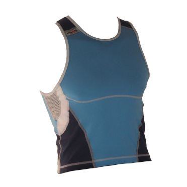 Ironman tri top mouwloos new olympic blauw heren