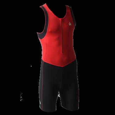 Ironman trisuit front zip mouwloos B9 rood/zwart heren