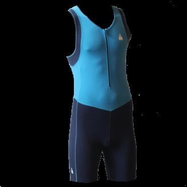 Ironman trisuit front zip mouwloos B9 blauw heren