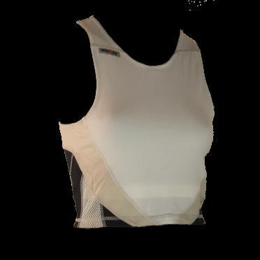Ironman tri top mouwloos extreme wit/zwart dames