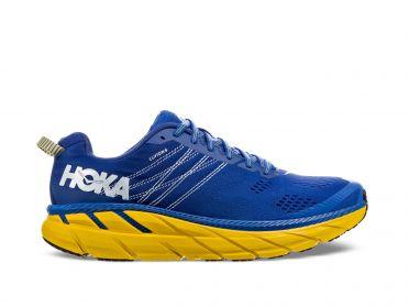 Hoka One One Clifton 6 hardloopschoenen blauw/geel heren