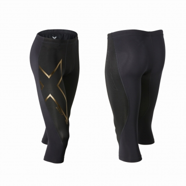 2XU 3/4 Elite Merino thermal compression tight zwart goud heren