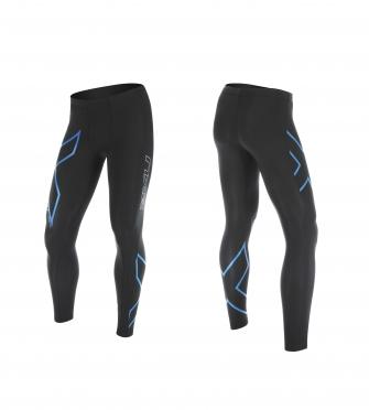 2XU Hyoptik Compressiebroek zwart/blauw heren