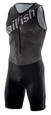 Sailfish Team Tri suit zwart-zilver heren