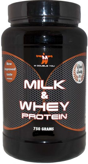 M Double You milk & whey protein vanille 750 gram