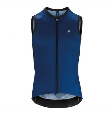 Assos Mille GT NS mouwloos Fietsshirt blauw heren
