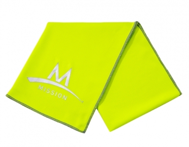 Mission Enduracool Tech Knit Towel High Vis green