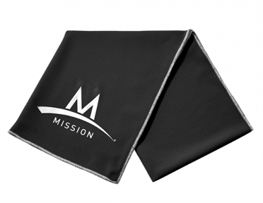 Mission Enduracool Tech Knit Towel zwart Sport