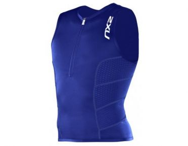2XU Men's Comp Tri Singlet blauw heren