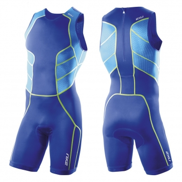 2XU Comp Trisuit  w Rear Zip Blue (MT2261d)