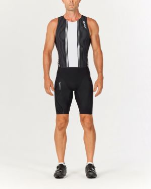 2XU Project X swim skin zwart/wit heren