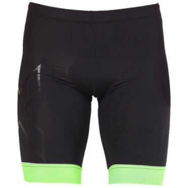 2XU Compression tri shorts zwart/groen heren