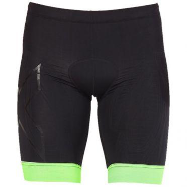 2XU Compression tri shorts zwart/groen heren