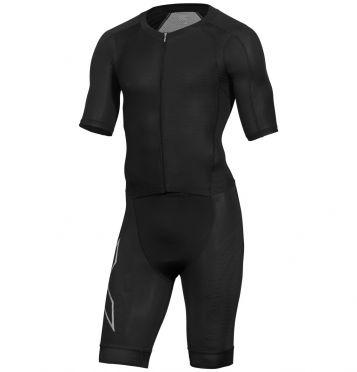 2XU Compression korte mouw trisuit zwart heren