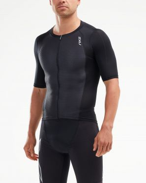 2XU Compression Korte mouw tri top zwart heren