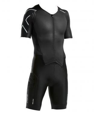 2XU Perform korte mouw trisuit zwart heren