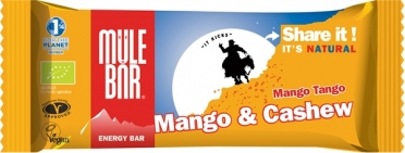 Mulebar energiereep Mango Tango cashewnoten 30 x 40 gram