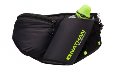 Nathan IceStorm Insulated WaistPak Black Safety Yellow